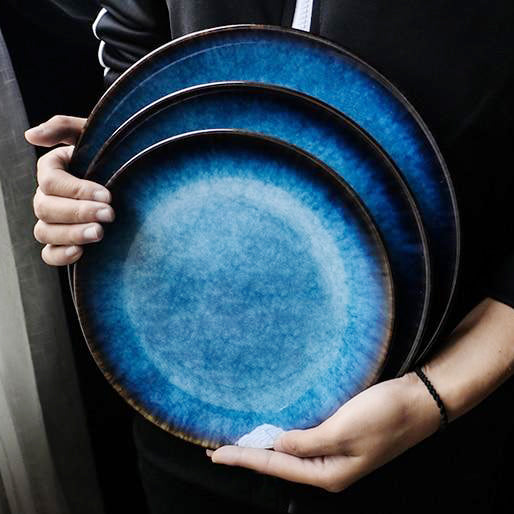 The Santorini Glazed Dinner Plates