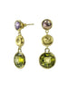 Colorful Triple Drop Earrings