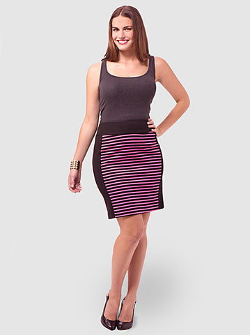 Striped Colorblock Skirt