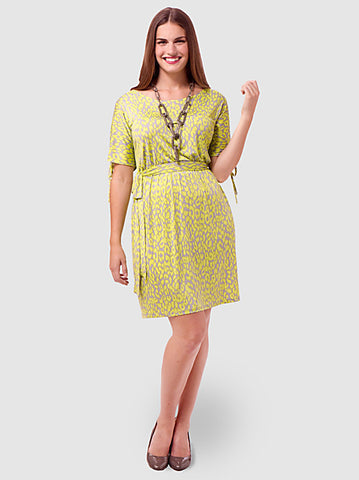 Neon Leopard Knit Dress