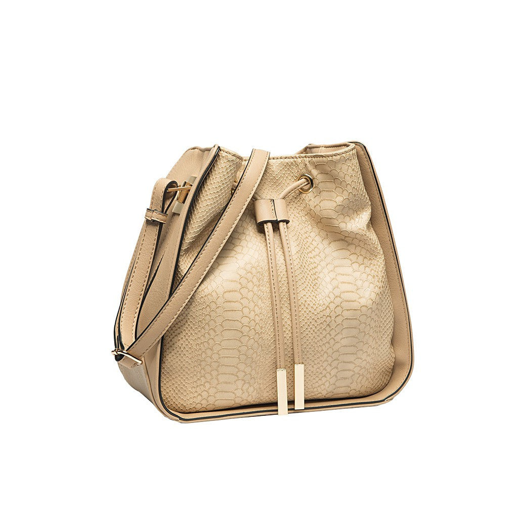 Alexandra Bucket Bag In Nude