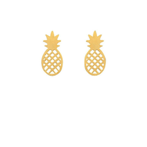 Dainty Pineapple Studs-Gold Plated