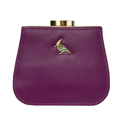 Canary Leather Coin Purse - Lavender Fields
