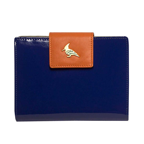 Navy Patent Leather  Wallet - Wren