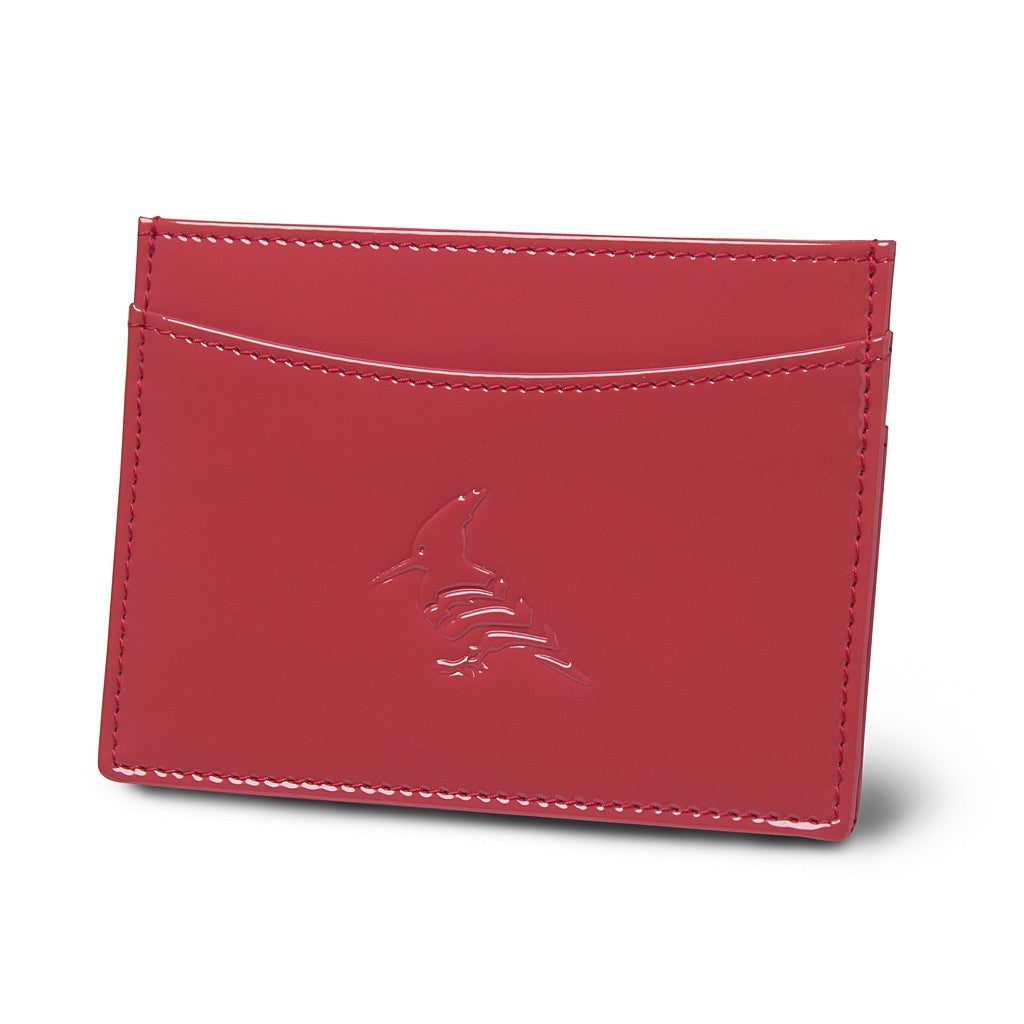 Rose Patent Leather Cardholder Wallet - Pipit