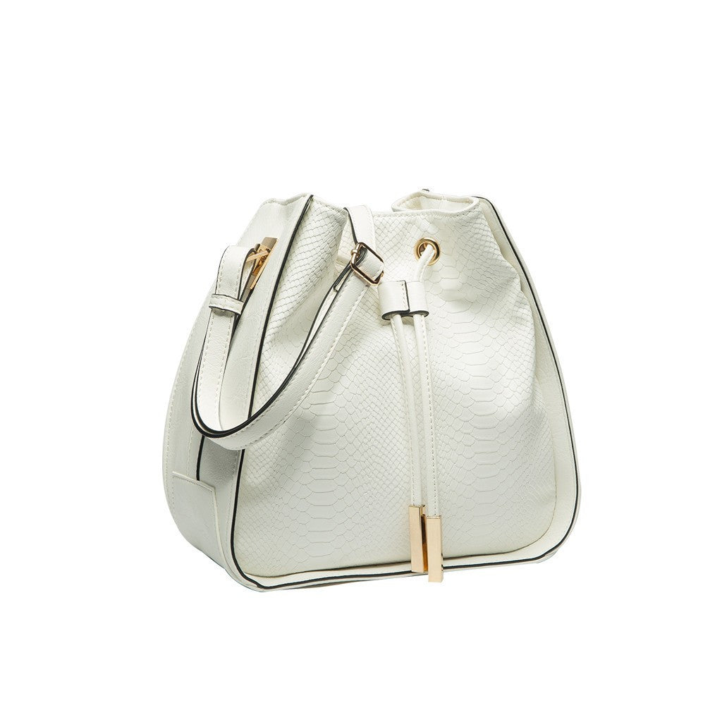 Alexandra Bucket Bag In Ivory