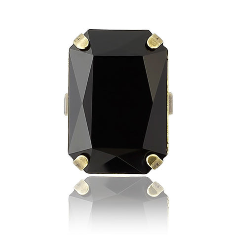 Cocktail Ring in Swarovski Crystal Rectangle