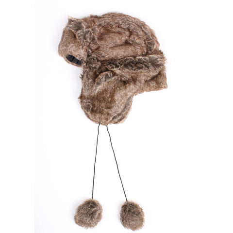 Faux Fur Trooper Trapper Hat (Medium)