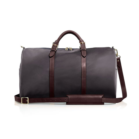 The Monaco Weekender - Charcoal and Chocolate