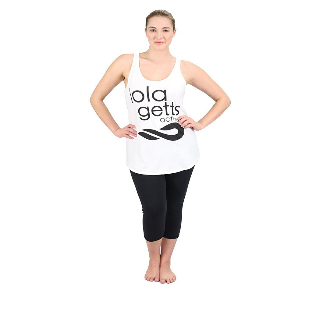 New! - Lola Getts Active Cotton Inspirational Tank In White