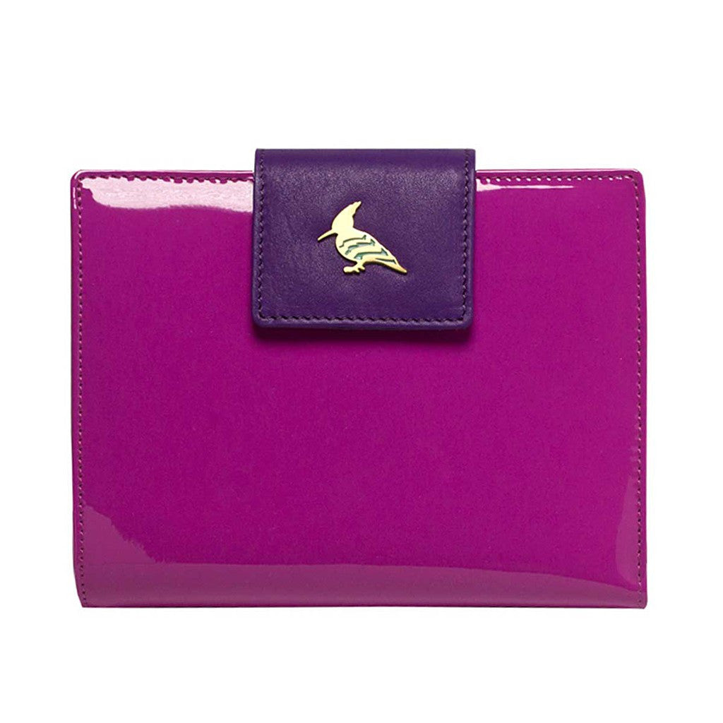 Purple Patent Leather  Wallet - Wren
