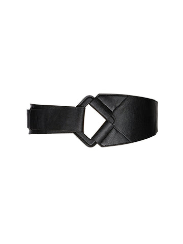 Faux Leather Fold Over Belt