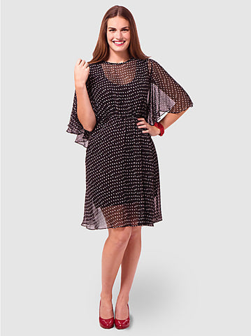 Karrie Dress In Polka Dot