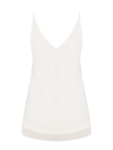 Simple Double Layer Top In Ivory