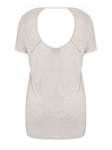 New! - Scoop Back T-Shirt in GREY