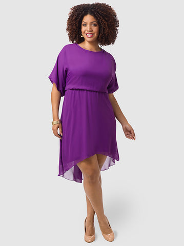 Evie Dress In Purple