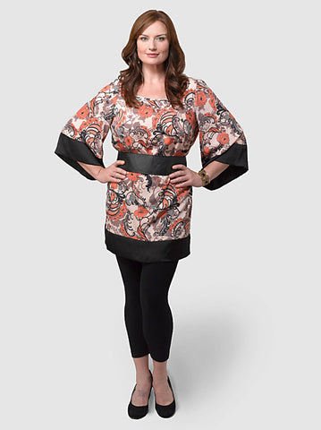 Floral Swirl Shift top