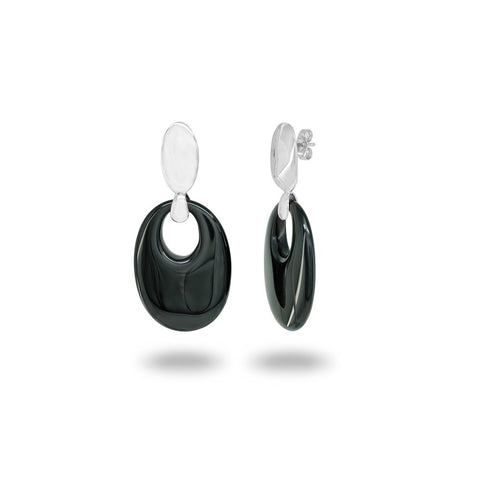Black Obsidian Crystal Earrings