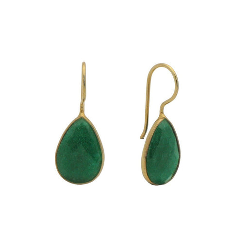 Green Quartz Hook Earrings