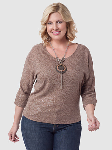 Textured Sequin Dolman Top