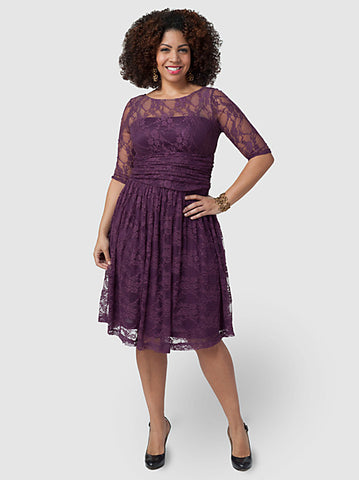 Luna Lace Dress Purple