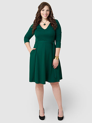 Drapey V-neck Dress