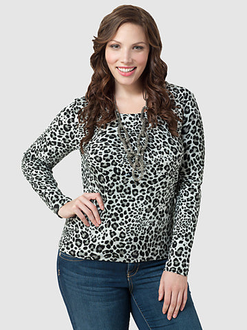 Animal Print Cotton Tee