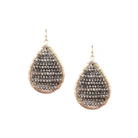 Beaded Crystal Earring - Available In More Colors