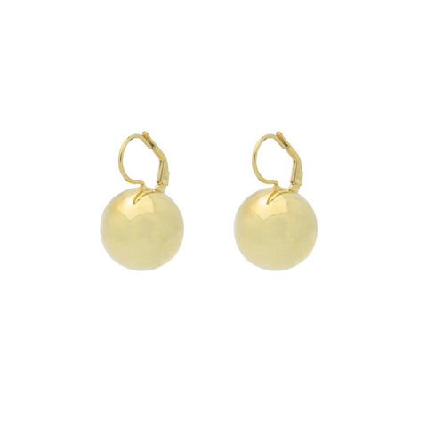 Golden Dangling Globes Earrings