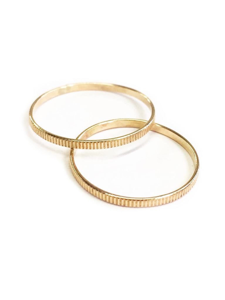 Lena Line Small Stacking Ring - Available in More Colors
