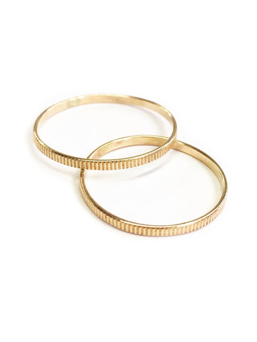 Lena Line Stacking Ring Large - Available in More Colors