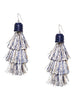 Tiered Thread Tassel Earrings