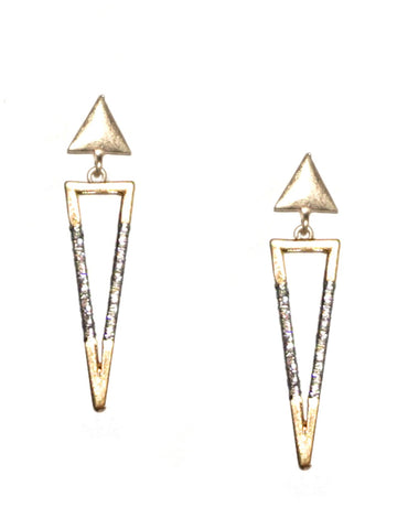 Thread Wrapped Triangle Earring
