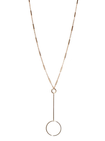 Bar Circle Pendant Necklace