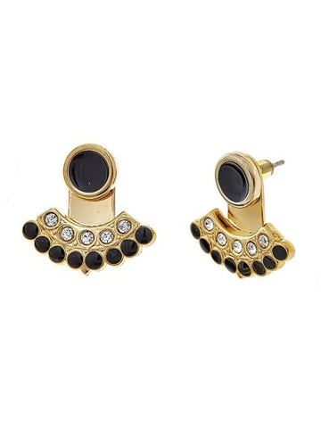Emily Gold and Black Earrings