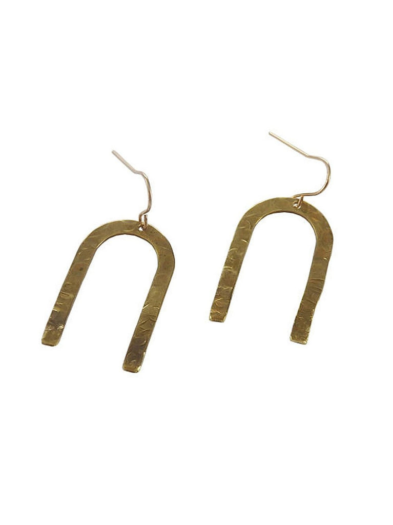 Inverted U Textured Earrings