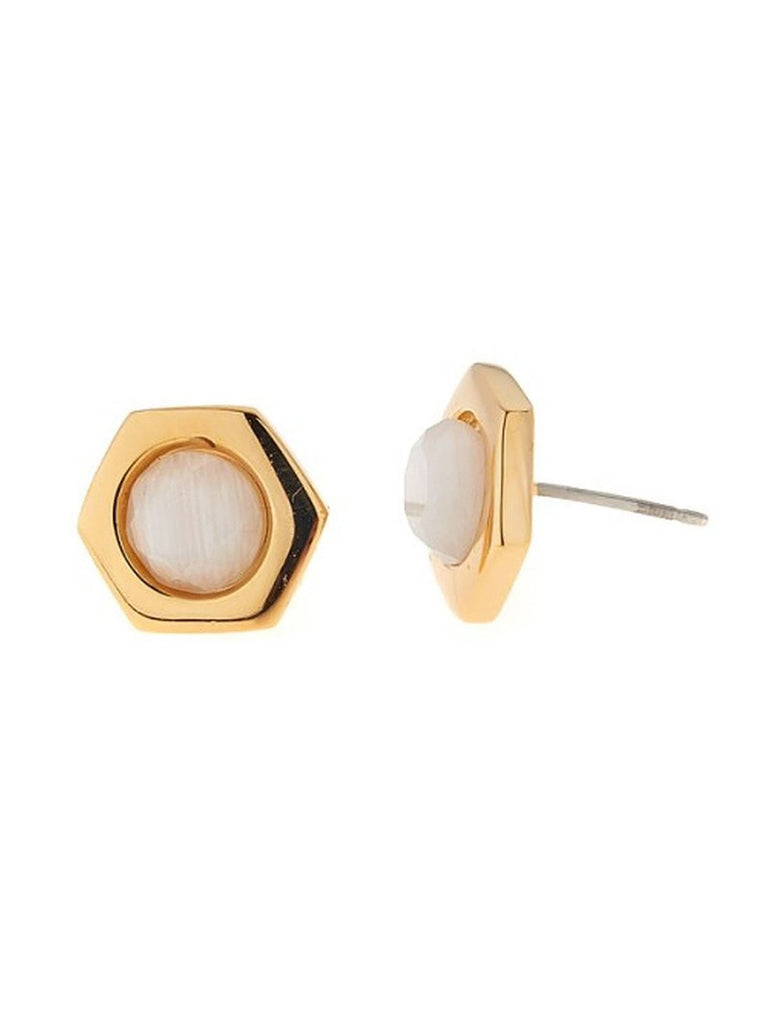 Bolt Gold Earrings