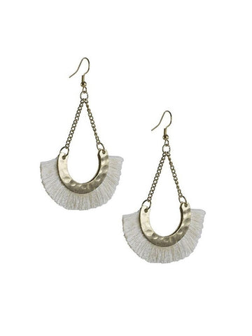 Ivory Open Fan Earrings
