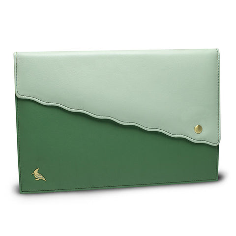 Green Leather Portfolio - Swan