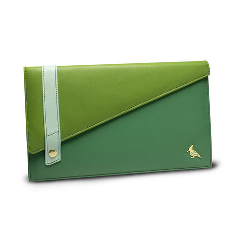 Green Leather Document/Photo Holder - Sparrow