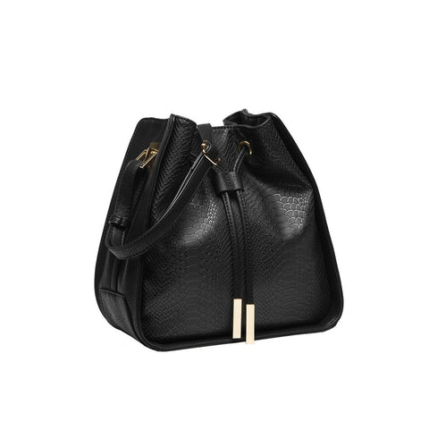 Alexandra Bucket Bag In Black