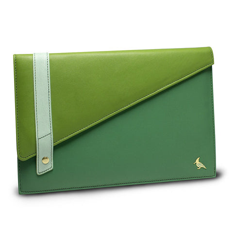 Green Leather Portfolio Large - Sparrow