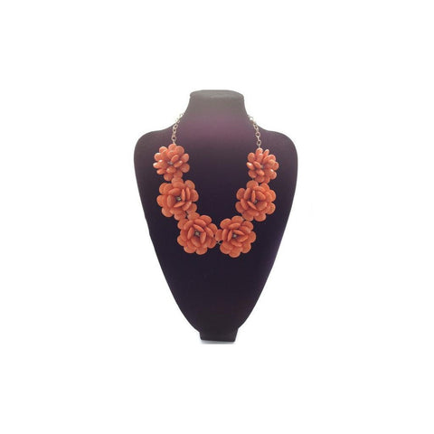 POP Fleur Collar- Orange