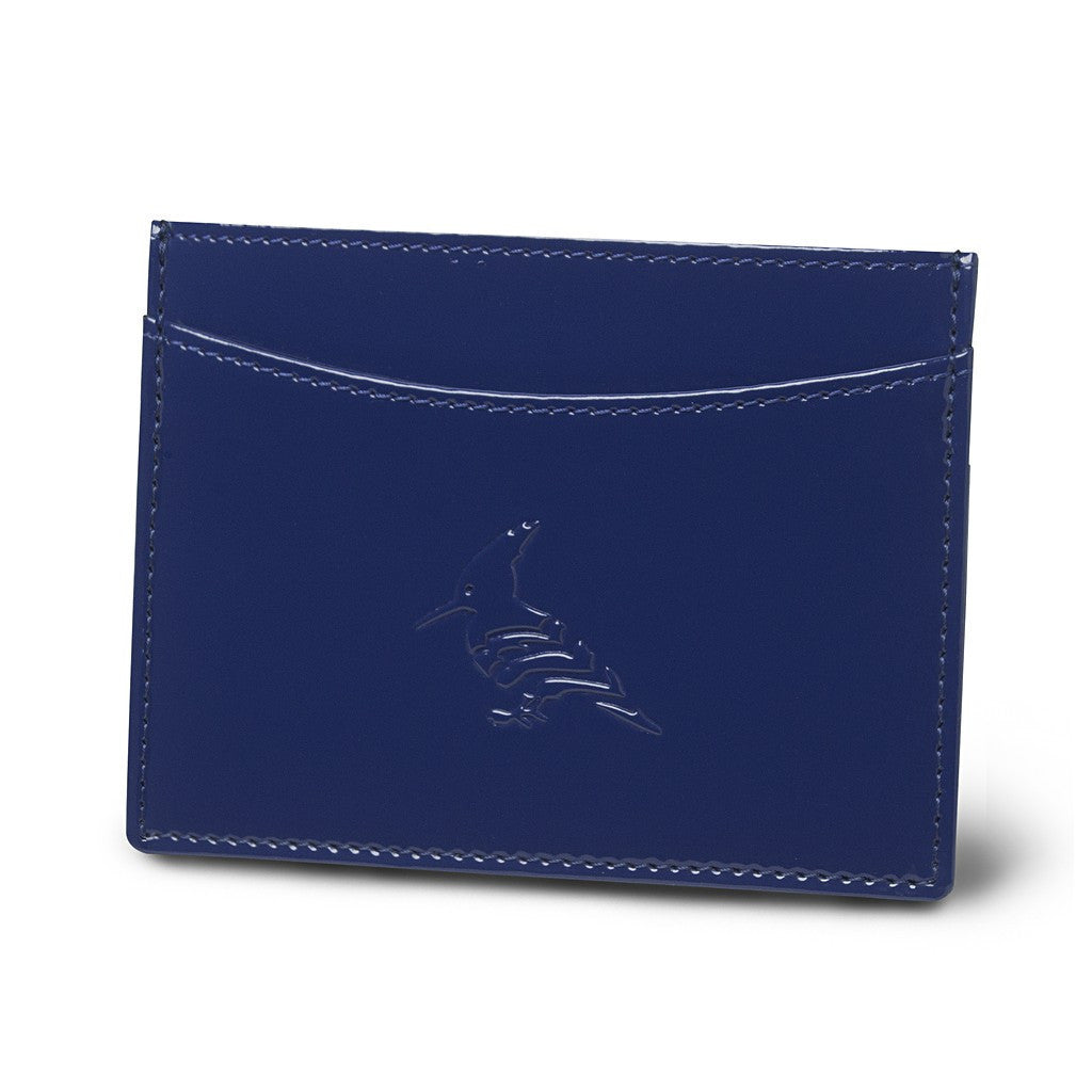 Navy Patent Leather Cardholder Wallet - Pipit
