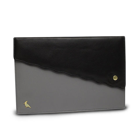 Black Leather Portfolio - Swan
