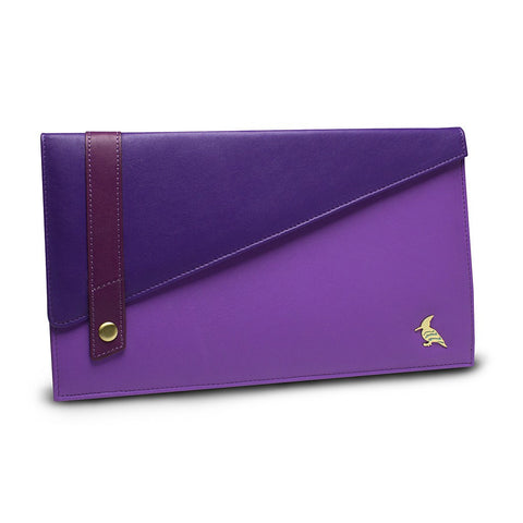 Purple Leather Document/Photo Holder - Sparrow