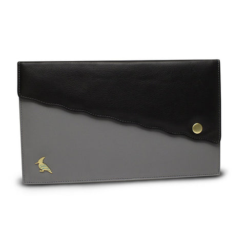 Black Leather Document/Photo Holder - Swan