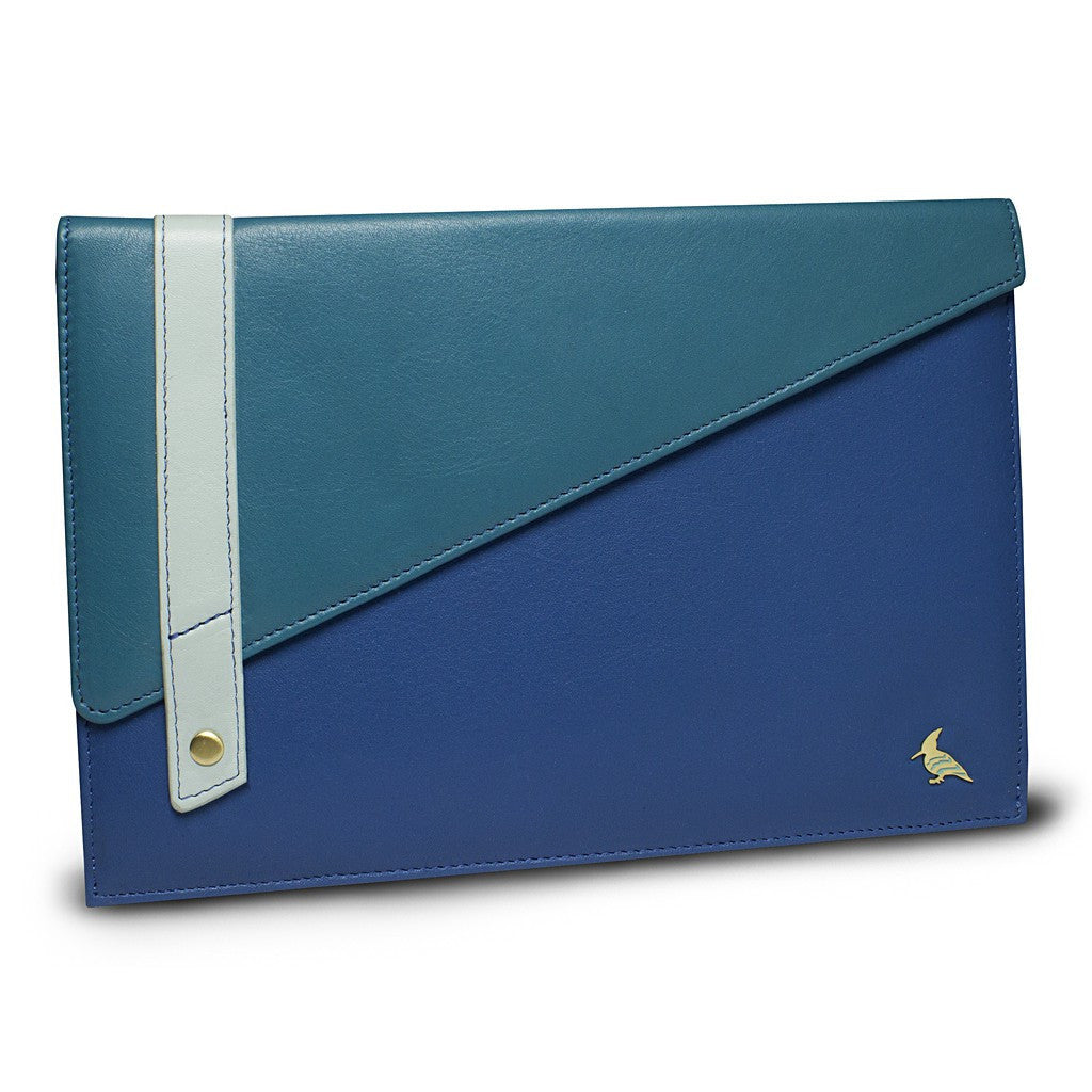 Blue Leather Portfolio Large - Sparrow