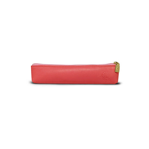 Pink Leather Pencil Pouch - Longspur