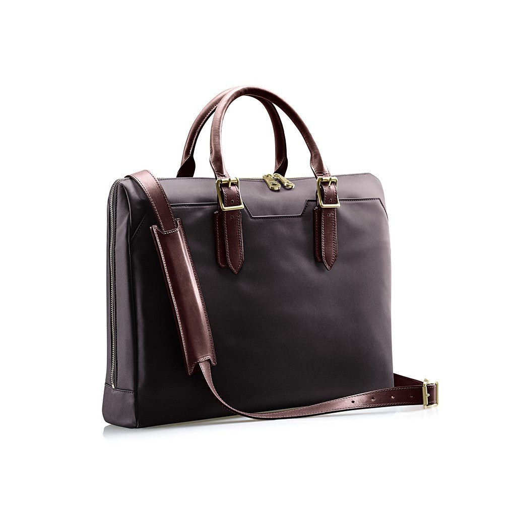 The Constant Briefcase - Charcoal and Chocolate
